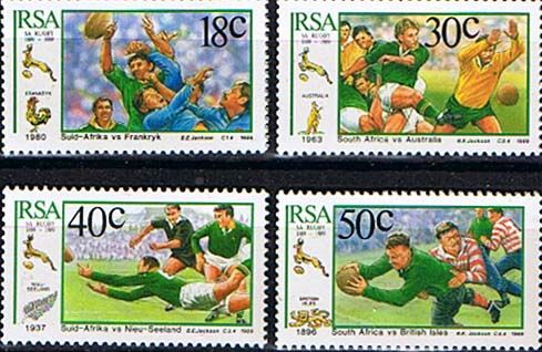 South Africa 1988 South African Rugby Board Set Fine Mint                    SG 685 8 Scott 770 3  Other South African Stamps HERE