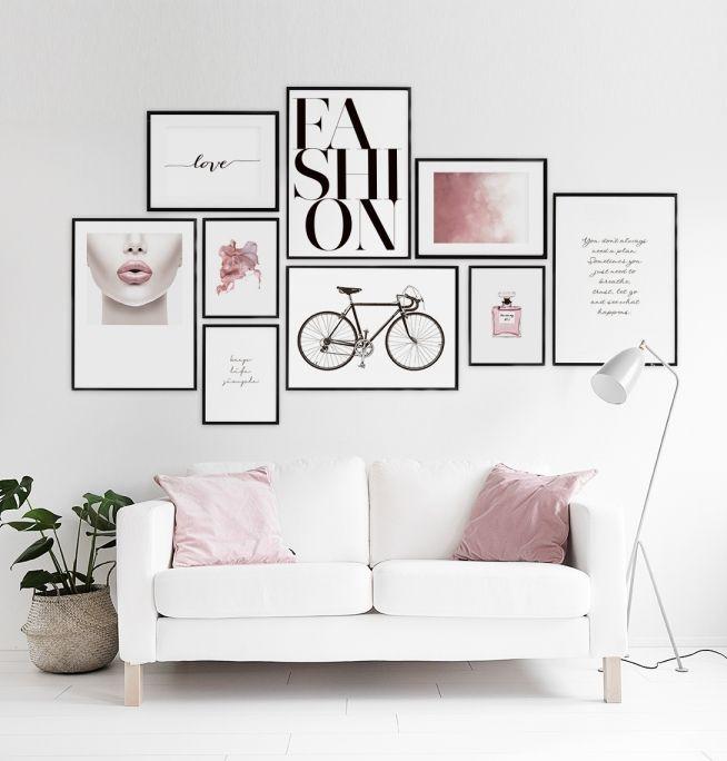 Poster med rosa moln till modern inredning   Trendiga planscher till inredning