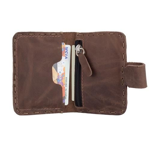 KHARIT - Genuine Leather Wallet in Brown Color