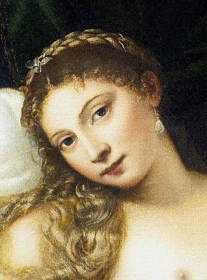 Titian (Tiziano Vecellio) - Venus of Urbino, before 1538 (detail of 291644)