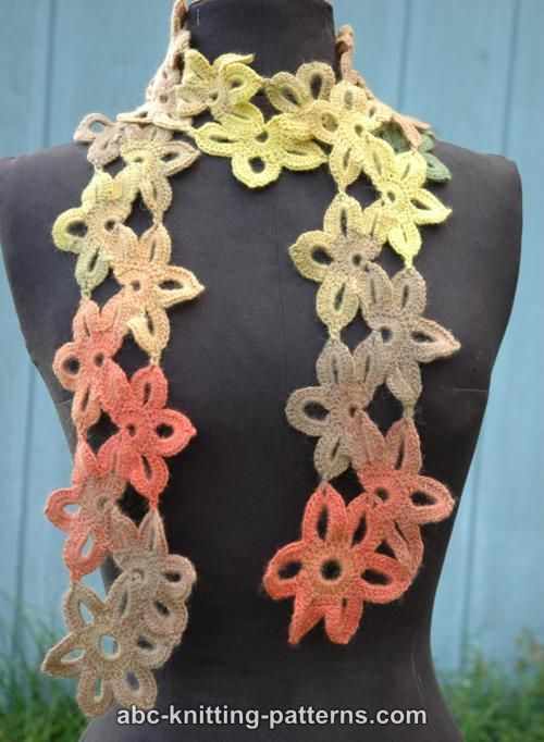 ABC Knitting Patterns - Starflower Scarf