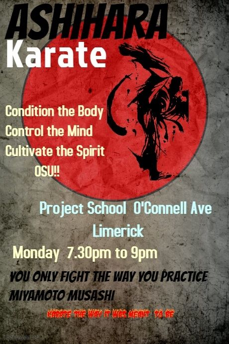 copy of copy of karate training poster template karate karate