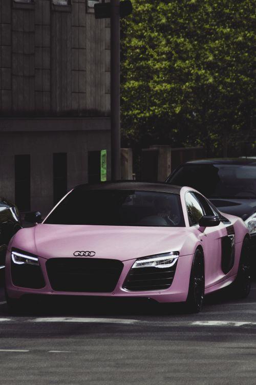 classyhustler: Für meine Damenanhänger der Audi R8 V10 Plus in mattem Pink   – Cars