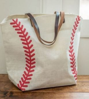 Baseball Print Jute Bag $13.99 (Retail $35)