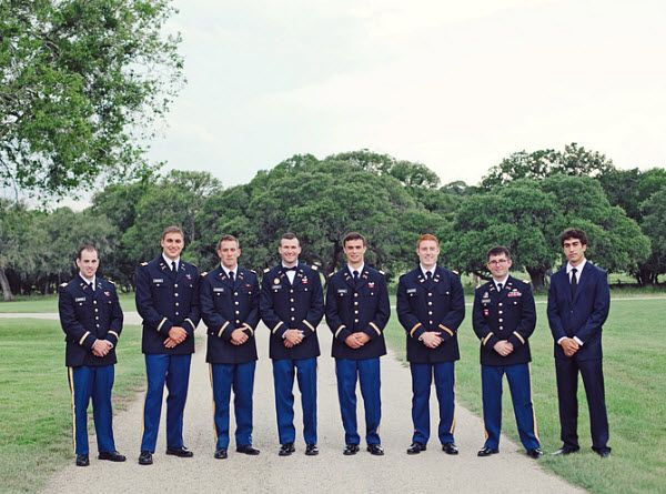 military wedding  bridesmaids | Military Wedding Romance: A Purple Outdoor Wedding - Bridesmaid.com