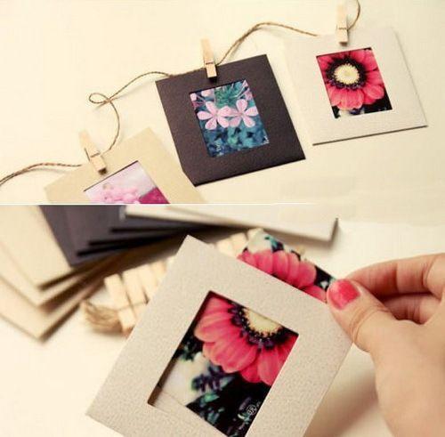 Бесплатная доставка Полотно Крафт бумага фото рамка для картинки Бумага фото рамка фото стены фоторамка 3-дюймовый 10шт / Лот