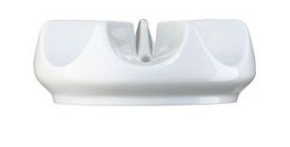 Teekannun lämpöalusta Posliinia. Väri valkoinen.