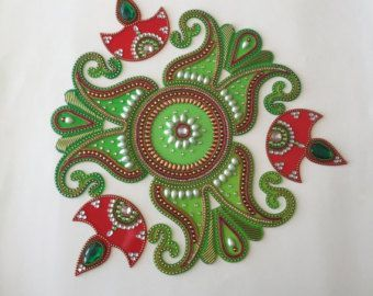 Kundan Rangoli Diwali Rangoli by TouchofcraftIndia on Etsy – suresh borda