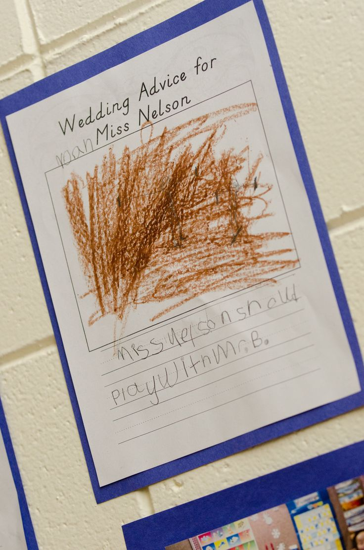 I am a Kindergarten Teacher, so I had my students color a picture and write Wedding Advice for me before my wedding. We put them up at the reception site. Some were more helpful than others, but all had great advice! #blatchleywedding
