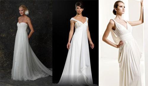 Греческая богиня в свадебном платье