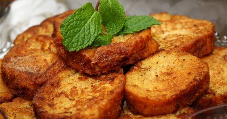 Receita de Rabanada que pode ser frita ou assada no forno. Deliciosa! Para fazer em qualquer época do ano, não apenas no Natal.