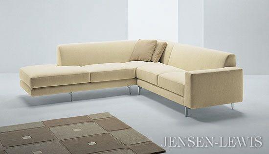 Monti sectional sofa della robbia 34quot depth 96quot armless for Sectional sofa depth