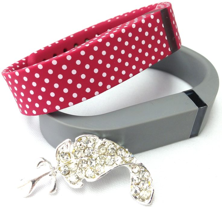 Set Small Size 1 Red with White Dots Spots 1 Grey Colors Bands for Fitbit FLEX Only With Metal Clasps Replacement /No tracker/+ Nice Crystals Feather Brooch. Set Small Size 1 Red with White Dots Spots 1 Grey Colors Bands for Fitbit FLEX Only With Metal Clasps Replacement /No tracker/+ Nice Crystals Feather Brooch. No tracker or other parts!!! Replacement Rubber Band and Clasp Only!!!!. FOR FITBIT FLEX BAND ONLY!!! Not for For Fitbit One or other models!!!.