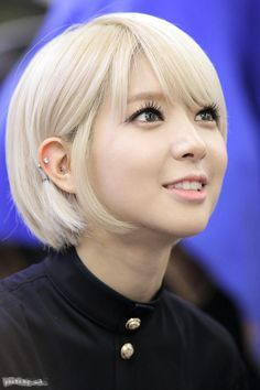 I really love ChoA's haircut, I think I want to try it, not blonde but this cut