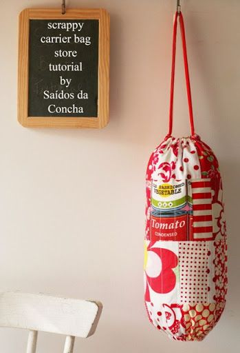 Saídos da Concha: Scrappy Carrier Bag Store (Grocery Bag Dispenser) Tutorial