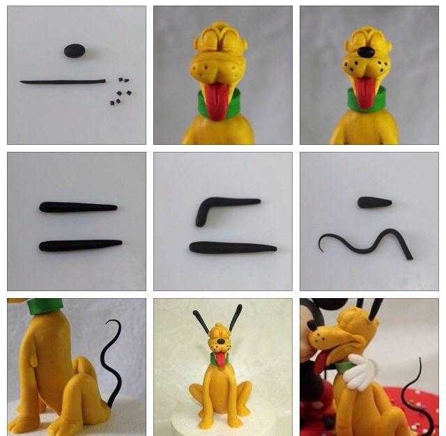 Cake Decorating Disney Characters : Pluto Tutorial 4 Sugar Craft/Fondant Character Tutorial ...
