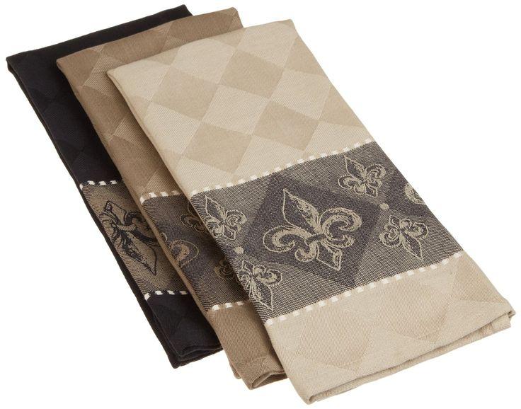Merveilleux Amazon.com   DII 100% Cotton, Oversized Fleur De Lis Jacquard Dishtowel, · Kitchen  TowelsKitchen ...