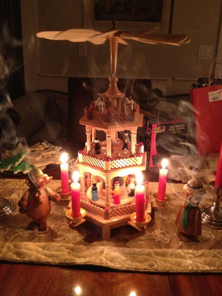 pyramid christmas ornament