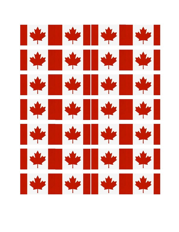 FREE Printable Canada Cupcake Flags