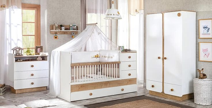 Jamie babykamer compleet, muggenvanger babybed, klamboe babykamer