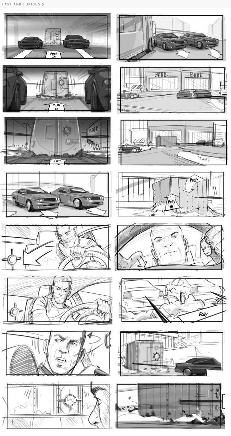 fast and furious Storyboards Inc.