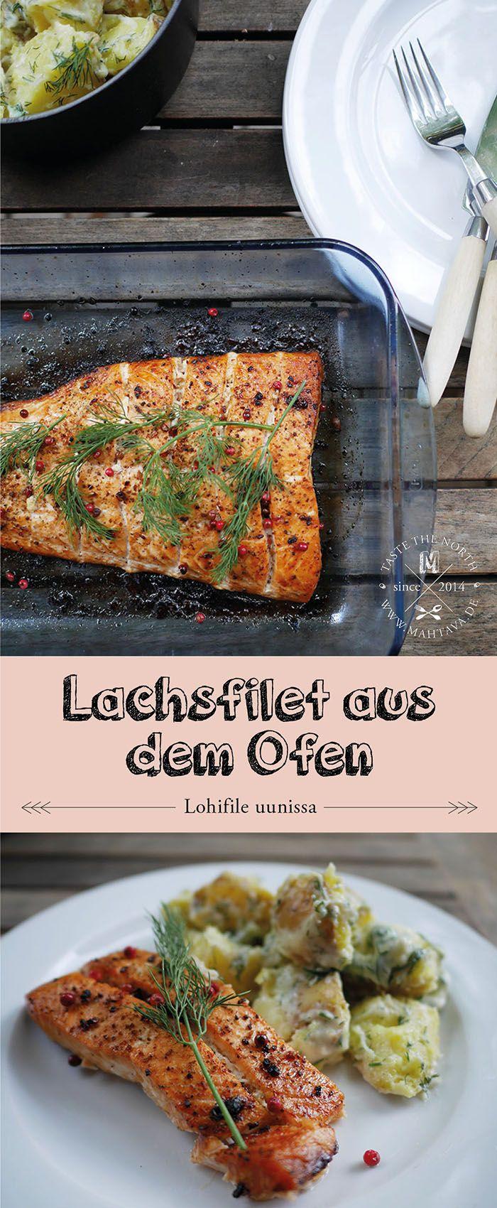 Finnische Küche: Lachsfilet aus dem Ofen I Lohifile uunissa I Oven baked salmon www.mahtava.de
