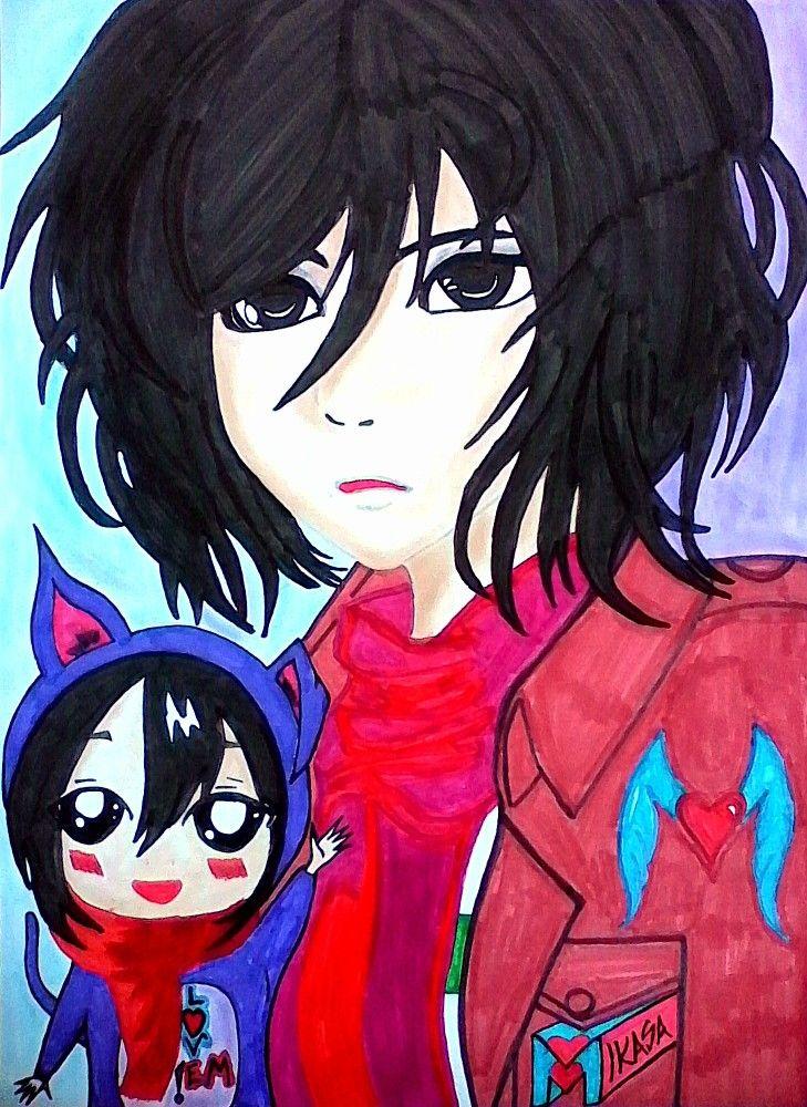 I was trying to draw •••MIKASA & CHIBI MIKASA••• Sorry if i failed,but i tried