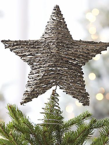 11 cool and creative christmas tree toppers shown is crate barrel rattan - Best Christmas Tree Toppers