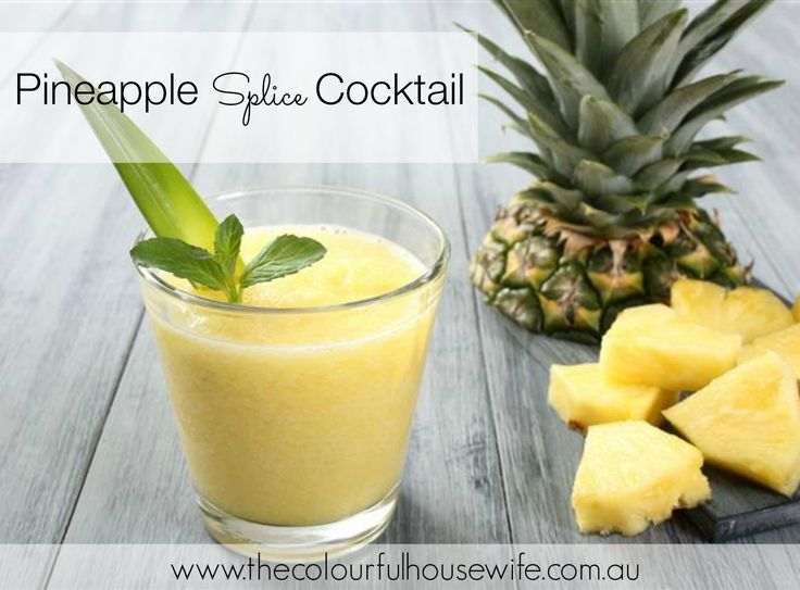 pineapple splice cocktail, cocktails, pineapple Don't forget to visit the website at www.thecolourfulhousewife.com.au
