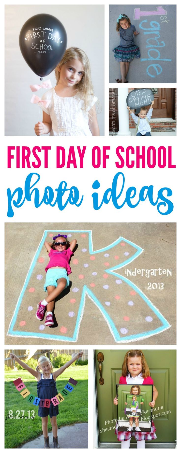 First Day of School Photo Ideas! Capture the back to school moments each year for your kids!