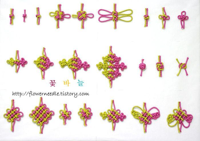 꽃바늘 :: 규방공예 / 전통매듭 :: 매듭 기법 샘플러