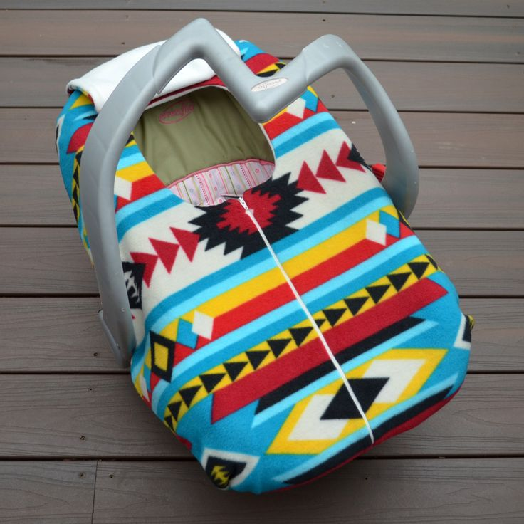 Native American Baby Car Seat Cover for Cold Weather, Southwest, Tribal, Pendleton inspired Fleece Zippered Blanket Cover by sophiemarie on Etsy