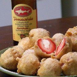 Deep fried cream cheese stuffed strawberrys Strawberry Fields Forever: Strawberry Season in Fia's Kitchen