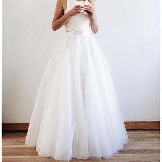 Jupe longue tulle ivoire - White long tutu skirt