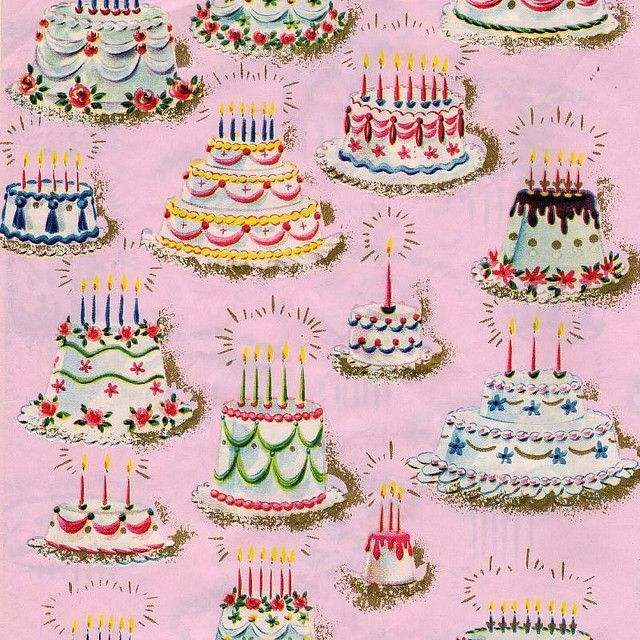 excellent vintage birthday cake wallpaper-Lovely Vintage Birthday Cake Picture