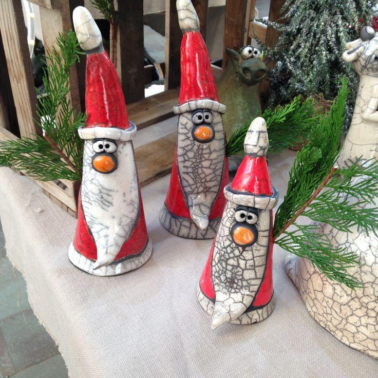 Keramik Weihnachtsmann Raku