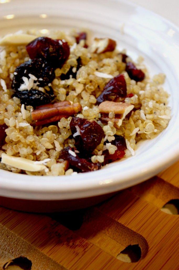 Hearty quinoa breakfast.
