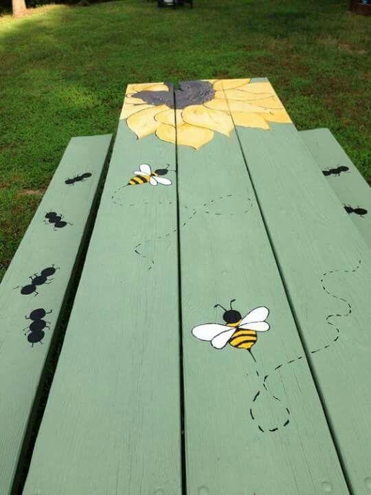 Top 25 Ideas About Picnic Table Paint On Pinterest Tole