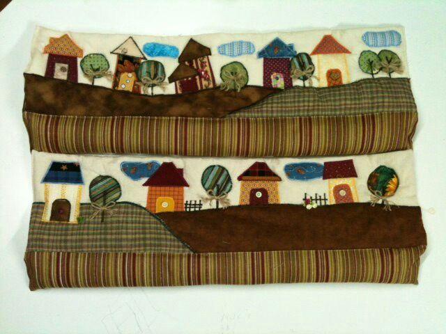 Guarsavientos de paisajes: Little Houses, Quilts Houses, Heavens Houses, House Quilts