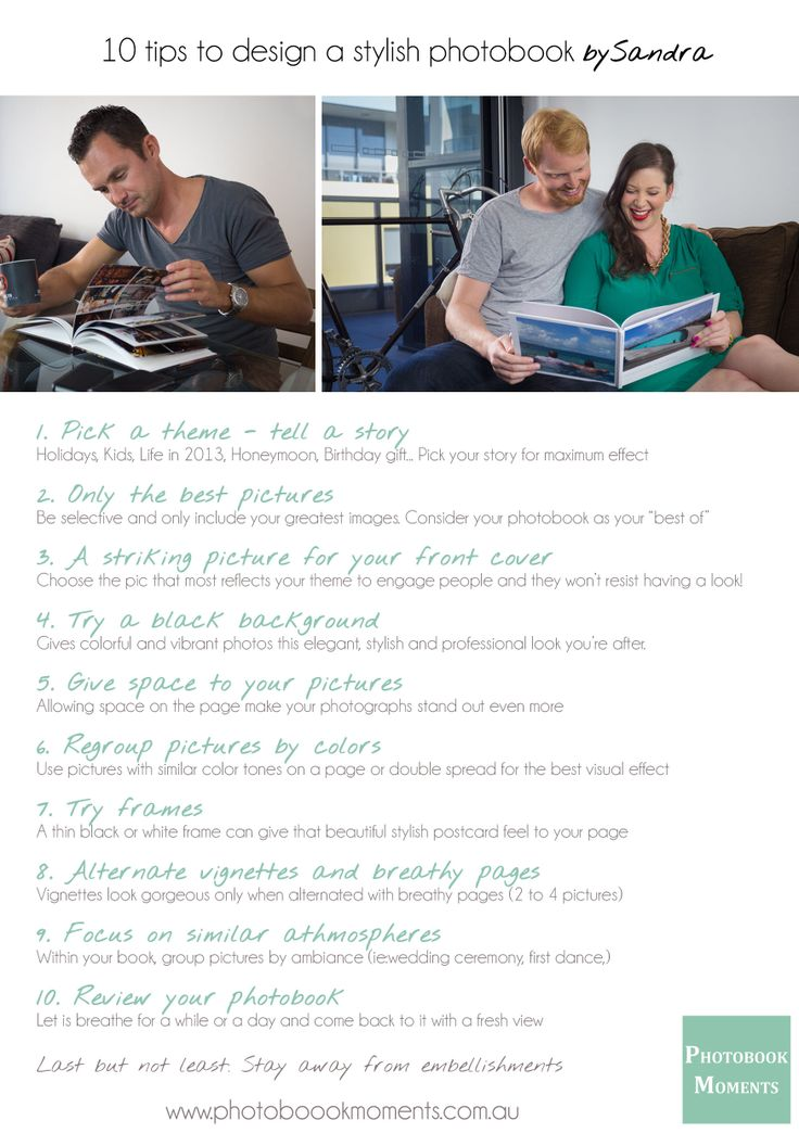 A beautiful photobookyes, but a stylish one is what you are after? Have a read through my 10 tips. www.photobookmoments.com.au