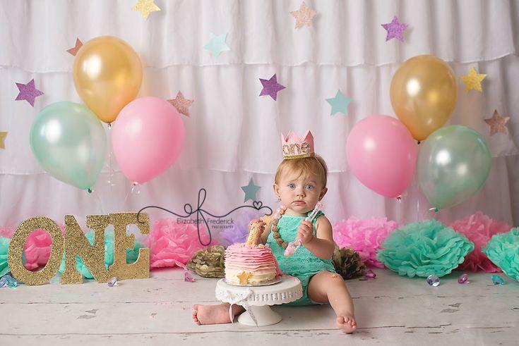 Twinkle Little Star Smash Cake Photography Session | First Birthday Photography Session | CT Smash Cake Photographer Elizabeth Frederick Photography