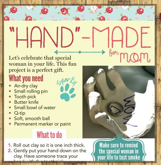 Hand Made for Mom - this month's Cool to Do!