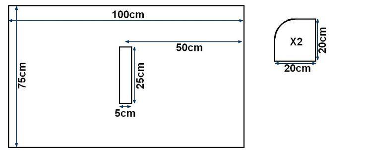 TUTO cape de bain 100 x 75 cm (capuche 25 x 25 cm)