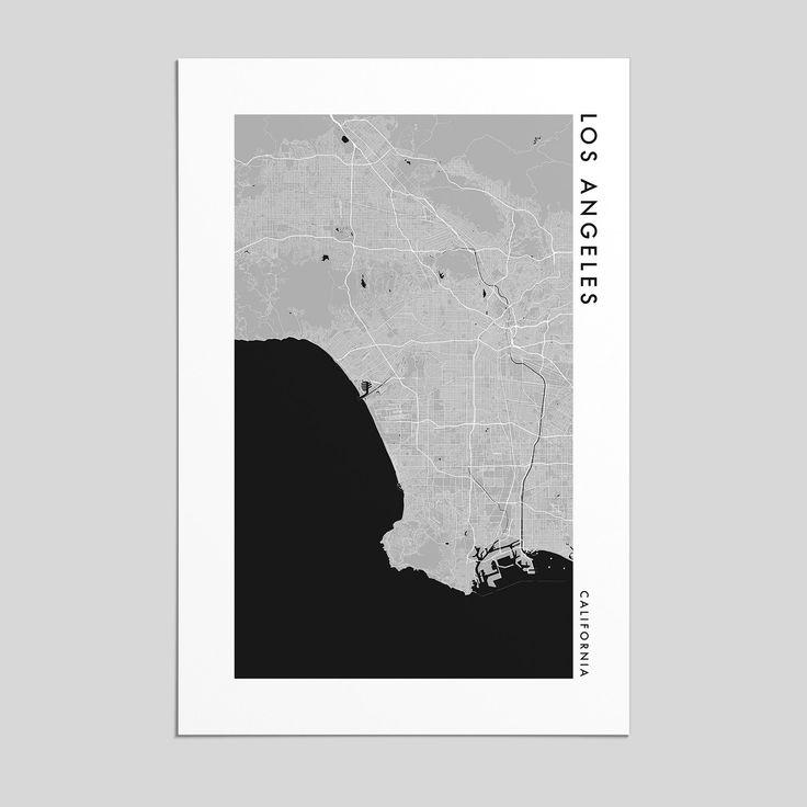 San Francisco Map Ritz Carlton%0A Los Angeles  California   City Map Print  Style