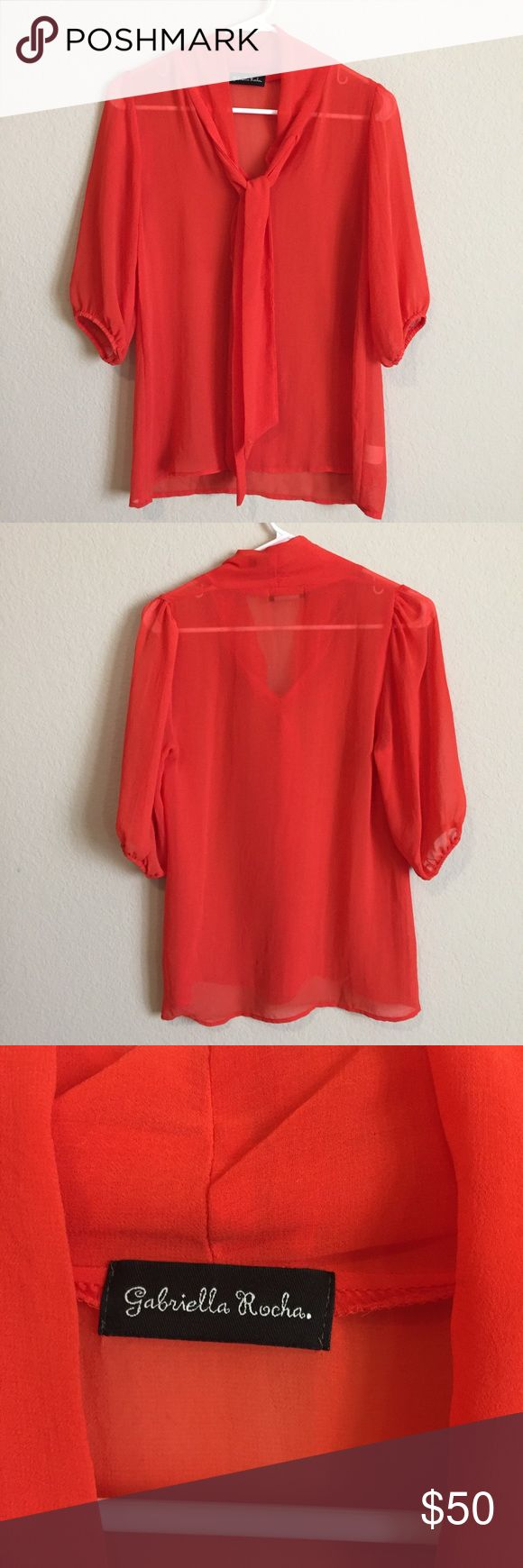 Gabriella Rocha blouse Like new no defects. Worn only s couple times gabriella rocha Tops Blouses