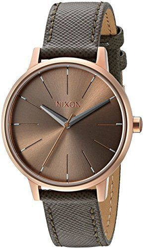 Now in stock Nixon Women's A1082214-00 Kensington Grey Watch With Leather Band