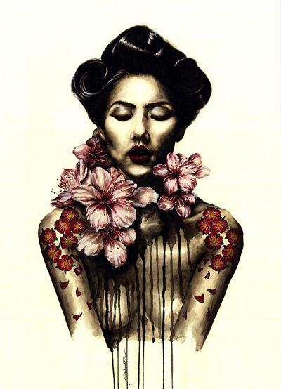 Trittico - Watercolor on Paper - 60x80 - 2013 - Angela Di Folco