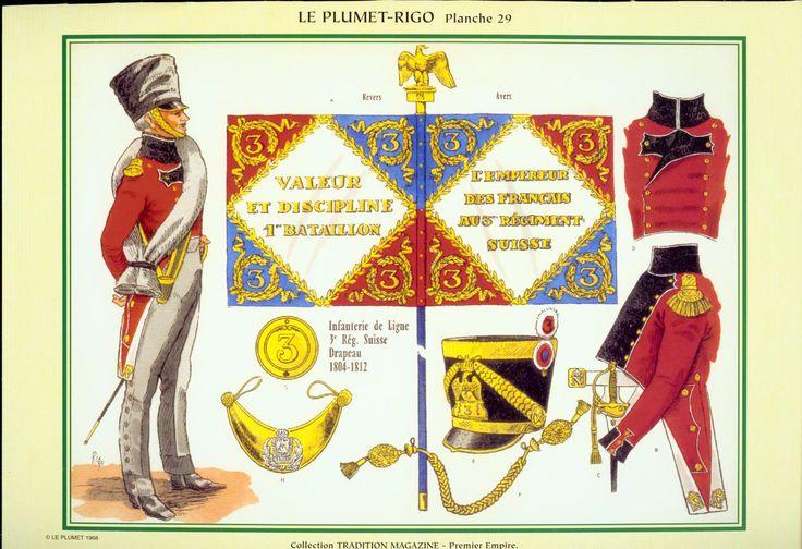3° Rgt. Fanteria di linea Portabandiera 1804-1812