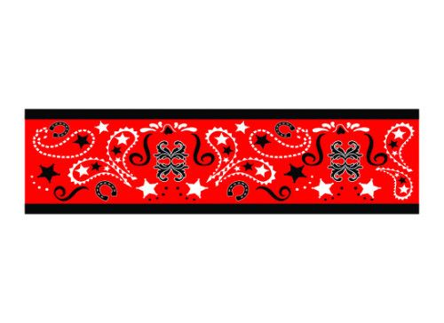 This red bandana #armband is the perfect accessory for the #western fan. works as an arm band, wrist cuff or even anklet. #temptattoo #western #bandana #country #cowgirl
