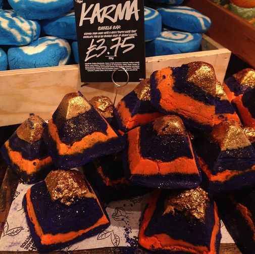lush s new karma bomb just bought these babies from the kitchen